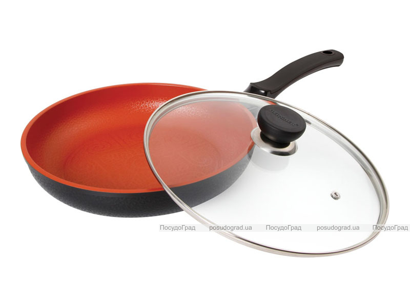 Сковорода Bergner Terracotta 24см с крышкой