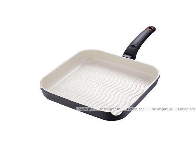 Сковорода-гриль Bergner Gala 28х28см с силиконовой ручкой