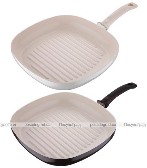 Сковорода-гриль White&Brown 28х28см с керамическим покрытием CERA+