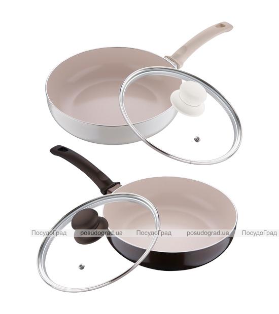 Сковорода глубокая White&Brown Ø24см с керамическим покрытием CERA+