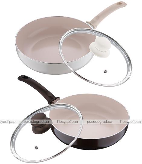 Сковорода глубокая White&Brown Ø28см с керамическим покрытием CERA+