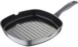 Сковорода-гриль Bergner Titan-Gray 28х28см литой алюминий с силиконовой ручкой