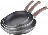 Набір 3 сковороди Bergner Eterna Whitford Ø20/Ø24/Ø28см з антипригарним покриттям