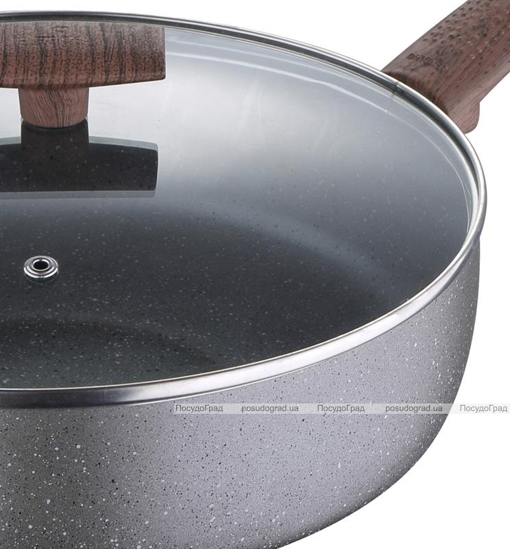 Сковорода глибока Bergner Eterna Whitford Ø24см з антипригарним покриттям і кришкою