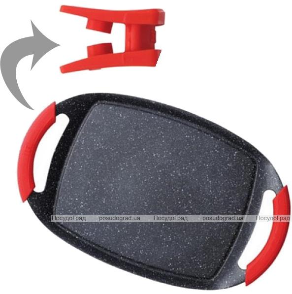 Противень-гриль Bergner RedStone 36х23см, литой алюминий с антипригарным покрытием Marble+
