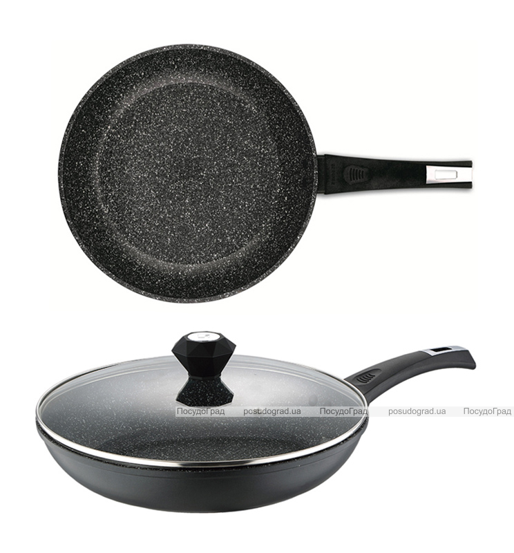 Сковорода Bergner Saga-II Marble Ø22см с мраморным антипригарным покрытием