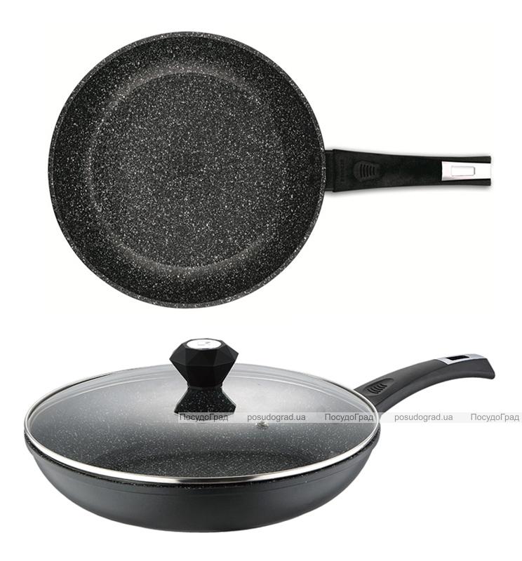 Сковорода Bergner Saga-II Marble Ø24см с мраморным антипригарным покрытием