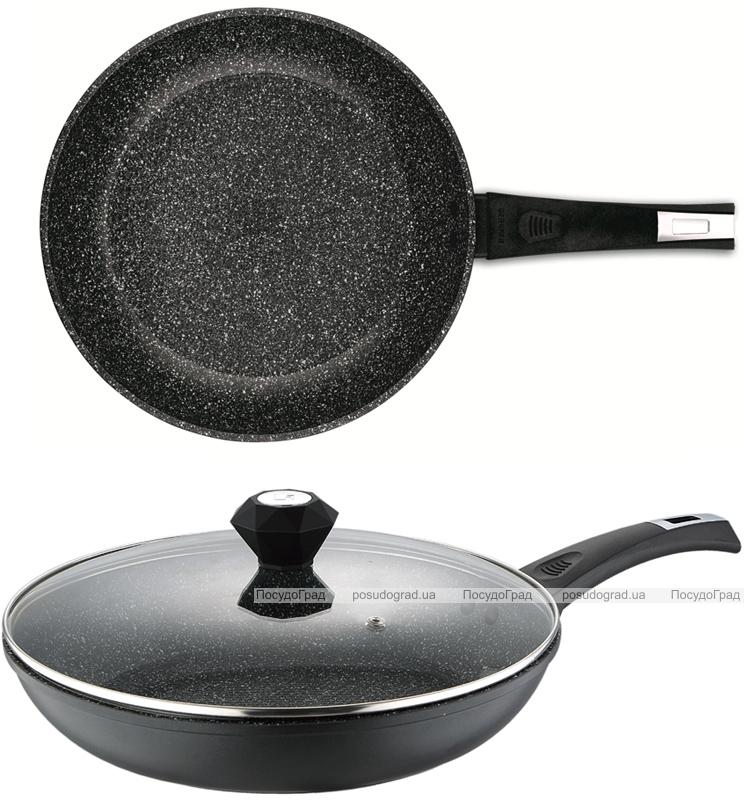 Сковорода Bergner Saga-II Marble Ø28см с мраморным антипригарным покрытием