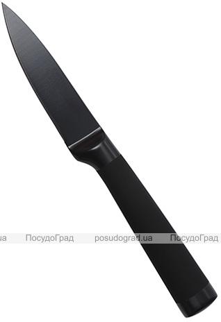 Нож для чистки овощей Bergner Blackblade 8.75см, с антибактериальным покрытием