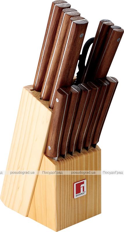 Набор кухонных ножей Bergner Florence 12 предметов+деревянная колода