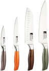 Набір кухонних ножів Bergner Neon Classic 4 предмети з нержавіючої сталі