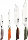 Набор кухонных ножей Bergner Neon Classic 4 предмета из нержавеющей стали