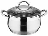Каструля Bergner Gourmet 4.5л з нержавіючої сталі, індукційна