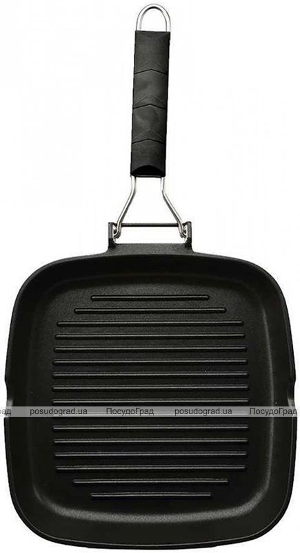 Сковорода-гриль Bergner InBlack 24х24см со складной ручкой