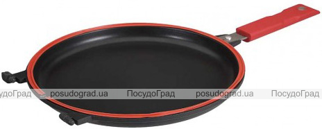 Сковорода-гриль Infinity Chefs Essence Ø26см подвійна з антипригарним покриттям QUANTANIUM by Whitford