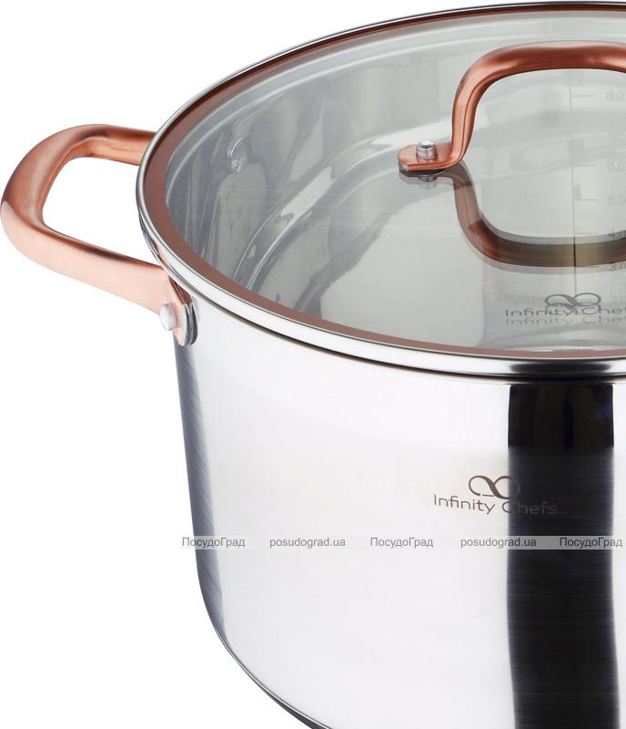 Кастрюля Bergner Infinity Chefs 9.5л со стеклянной крышкой