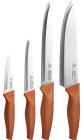 Набор 4 кухонных ножа Bergner Infinity Chefs из нержавеющей стали