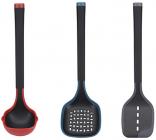 Набор кухонных акссеуаров Bergner Essence 3 предмета, нейлон+силикон