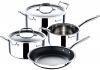 Набір кухонного посуду MasterPro Tri-Ply 2 каструлі з кришками, ківш і сковорода