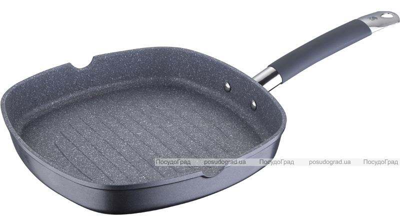 Сковорода-гриль Bergner Master Pro 27х27см індукційна з антипригарним покриттям