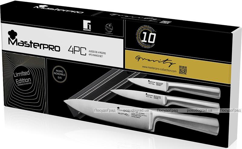 Набор 3 кухонных ножа Bergner MasterPro и магнитная планка