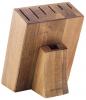 Колода-подставка для ножей Bergner Dark Wood деревянная, 7 секций