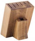 Колода-підставка для ножів Bergner Dark Wood дерев'яна, 7 секцій