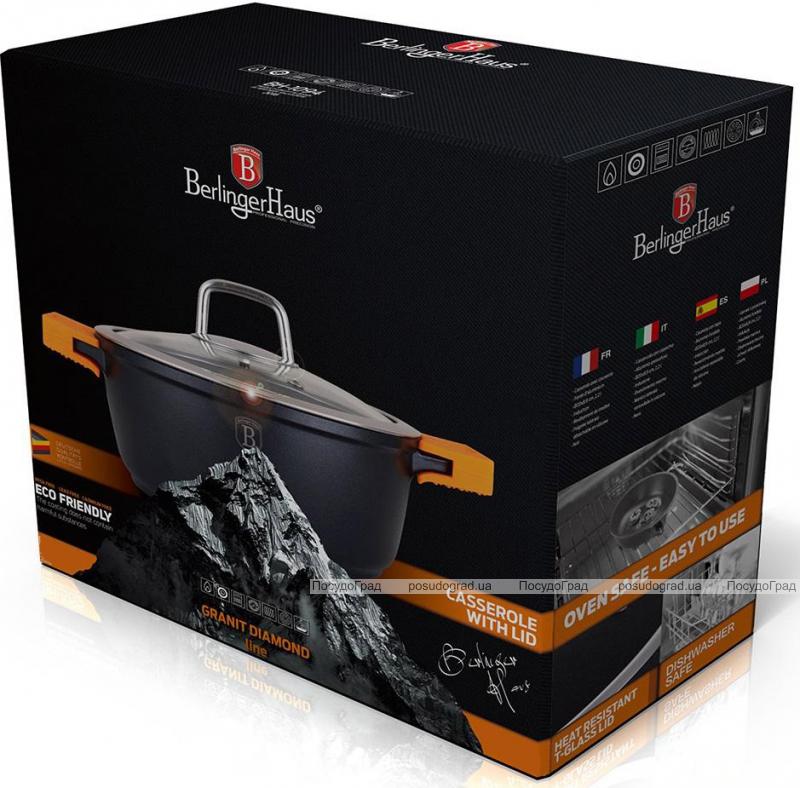 Кастрюля Berlinger Haus Granit Diamond-N 5.8л со съемными силиконовыми ручками