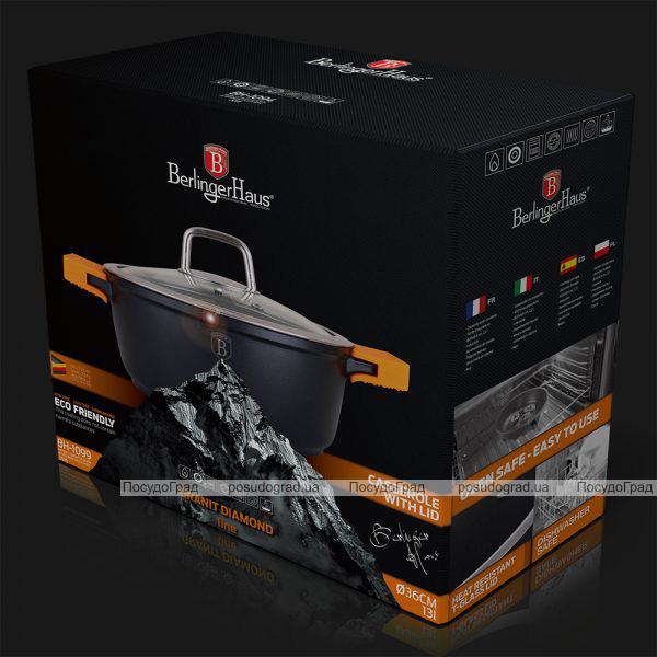 Каструля Berlinger Haus Granit Diamond 13л зі знімними силіконовими ручками