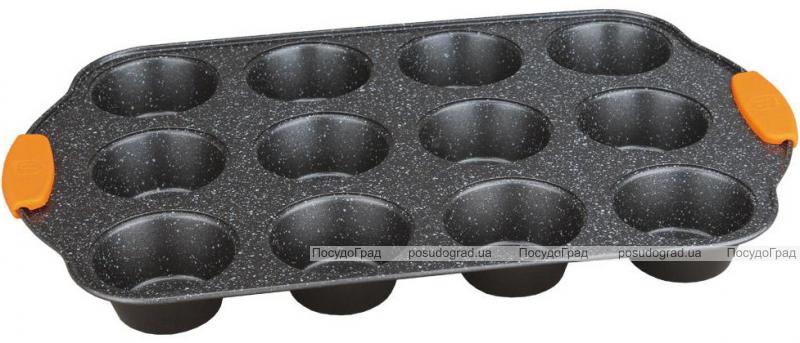 Форма для выпечки маффинов Berlinger Haus Granit Diamond 41.2x26.5x3см, 12 ячеек