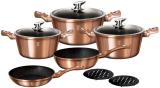 Набір кухонного посуду Berlinger Haus Rose Gold 10 предметів