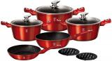Набір кухонного посуду Berlinger Haus Burgundy 10 предметів