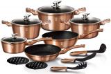 Набір кухонного посуду Berlinger Haus Rose Gold 15 предметів
