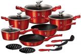 Набір кухонного посуду Berlinger Haus Burgundy 15 предметів