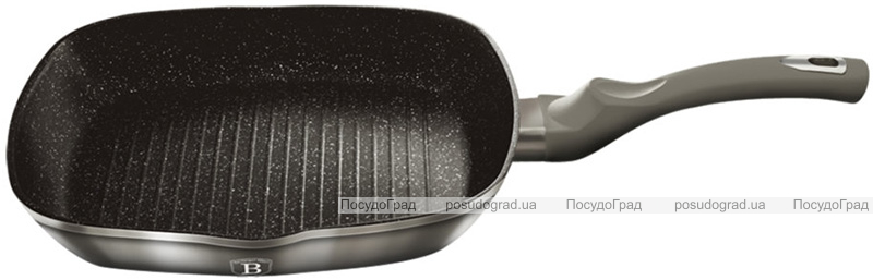 Сковорода-гриль Berlinger Haus Carbon 28х28см со стеклянной крышкой