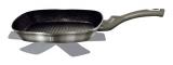 Сковорода-гриль Berlinger Haus Carbon 28х28см, мармурове антипригарне покриття