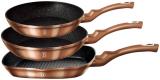 Набор 3 сковороды Berlinger Haus Rose Gold Ø20см, Ø24см и 28х28см (сковорода-гриль)