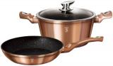 Набор посуды Berlinger Haus Rose Gold сковорода Ø24см и кастрюля с крышкой 4.1л