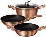 Набор посуды Berlinger Haus Rose Gold сковорода Ø24см, сотейник 2.3л и кастрюля с крышкой 4.1л