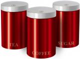 Набір банок Berlinger Haus Burgundy 3 банки Ø11х17.8см з нержавіючої сталі для кави, чаю та цукру