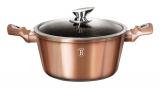 Кастрюля Berlinger Haus Rose Gold 2.5л с крышкой, индукционная с антипригарным покрытием