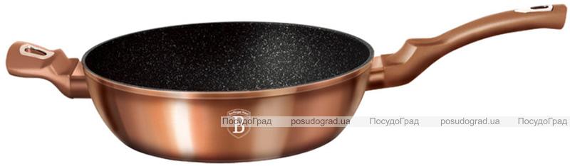 Сковорода-сотейник Berlinger Haus Rose Gold Ø28см (3.8л) с крышкой, индукционная с антипригарным покрытием