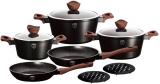 Набір кухонного посуду Berlinger Haus Ebony Rosewood 10 предметів