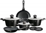 Набор кухонной посуды Berlinger Haus Forest Line Black 10 предметов, гранитное покрытие