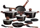 Набір кухонного посуду Berlinger Haus Ebony Rosewood 15 предметів