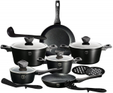 Набор кухонной посуды Berlinger Haus Forest Line Black 15 предметов, гранитное покрытие
