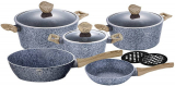 Набор кухонной посуды Berlinger Haus Forest Line Light 10 предметов, гранитное покрытие