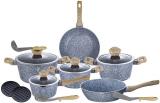 Набор кухонной посуды Berlinger Haus Forest Line Light 15 предметов, гранитное покрытие