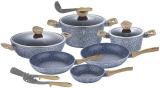 Набор кухонной посуды Berlinger Haus Forest Line Light 12 предметов, гранитное покрытие