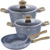 Набор кухонной посуды Berlinger Haus Forest Line Light 6 предметов, гранитное покрытие